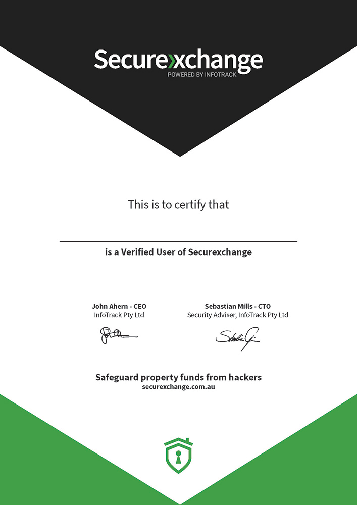 Securexchange Certificate Template